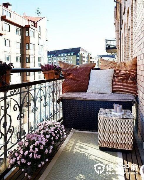 阳台沙发区