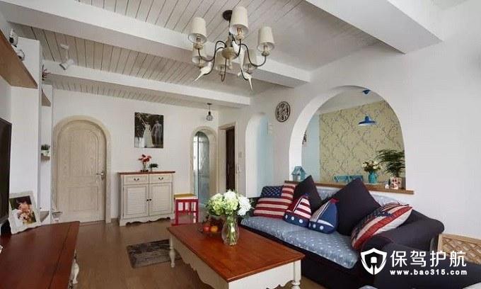 稳当阔气地中海风格客厅沙发
