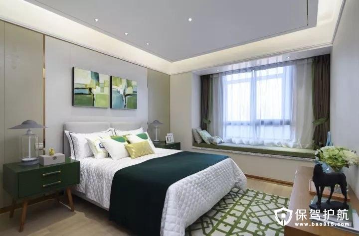 小清新和奢华北欧风格卧室床头背景墙和吊顶