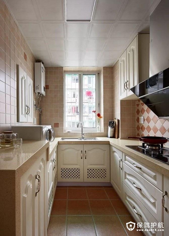 优雅温馨又高档地中海风格厨房乳白色橱柜