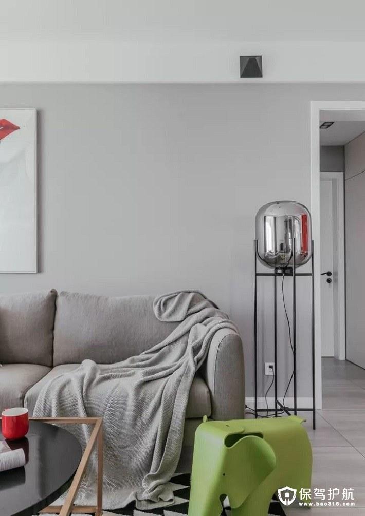 不单调拘束北欧风格客厅沙发背景墙