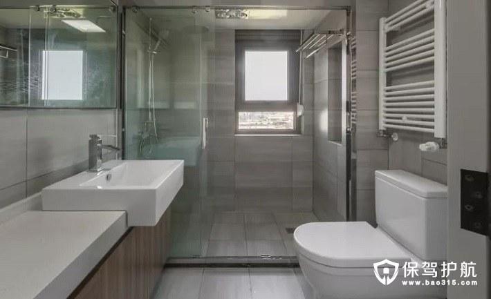 舒适自在北欧风格干湿分离卫浴设计