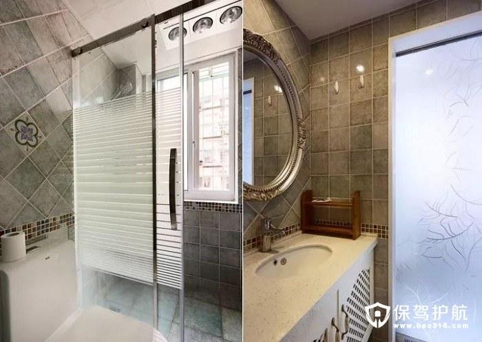 淡绿地中海风格清新优雅卫生间墙面砖