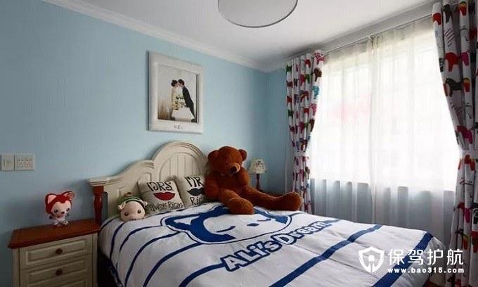活泼而又自然地中海风格卧室鲜艳窗帘