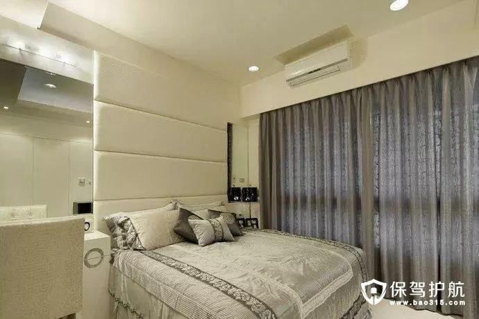 以灰、白作为主要色彩简约风格卧室