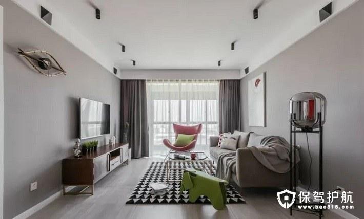颜色碰撞出新鲜感120平方米三室两厅北欧设计