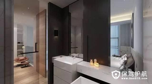 北欧风格黑白搭配简约、时尚浴室