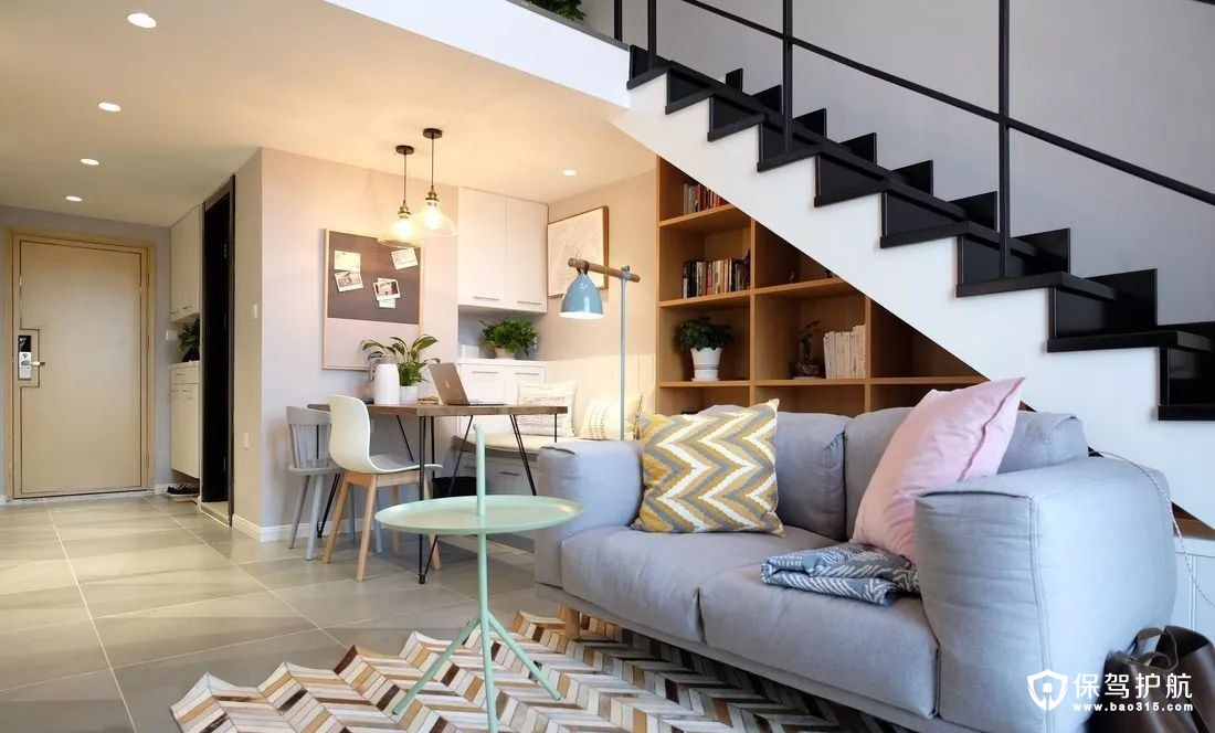 47平米一居室北欧风格单身公寓