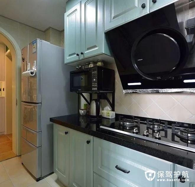 时尚灰白色美式风格厨房橱柜