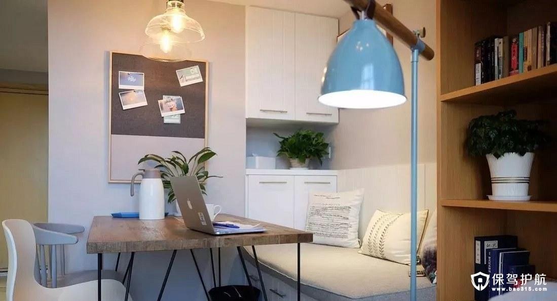 北欧风格餐厅卡座+嵌入式储物柜