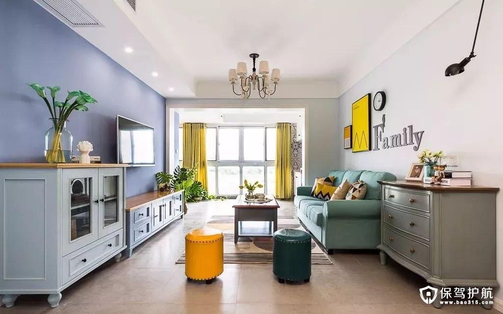 清新高档82平方米现代美式三居室
