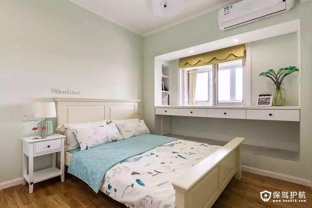 淡绿色现代美式儿童房