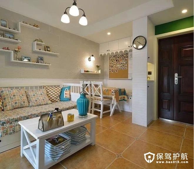 文艺精致美式风格沙发、鞋柜、小餐厅