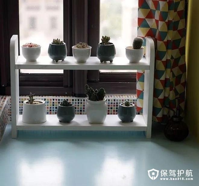 温馨精致美式风格卧室彩色马赛克砖