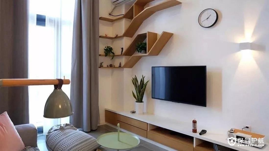 开阔通透的北欧风格客厅挑高空间