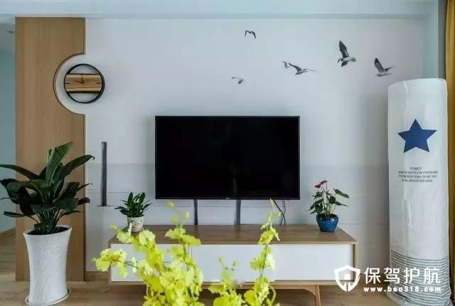设计感北欧风格客厅电视背景墙