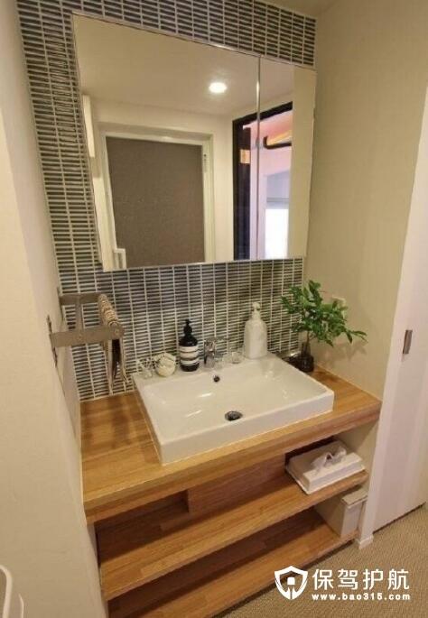 洗手台绿植设计
