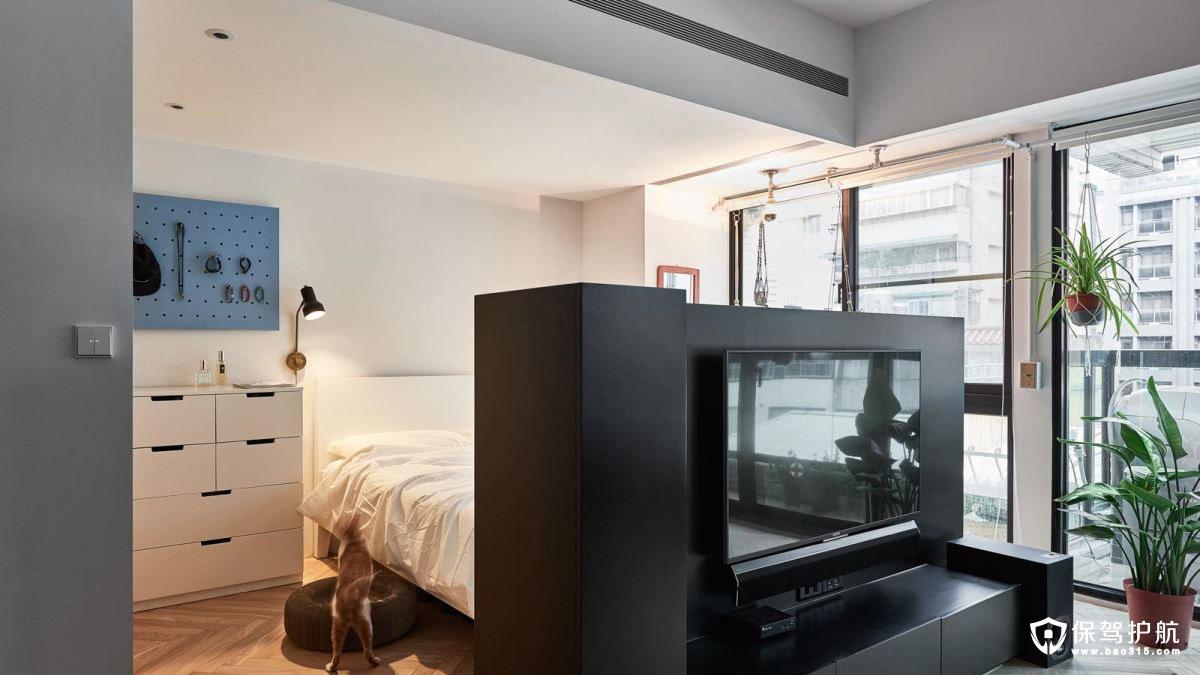 loft风格客厅电视墙