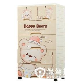 可爱卡通儿童衣物收纳柜