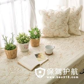纯手工刺绣飘窗垫