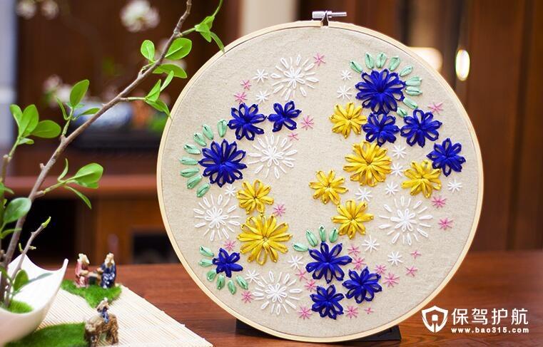 立体创意手工刺绣