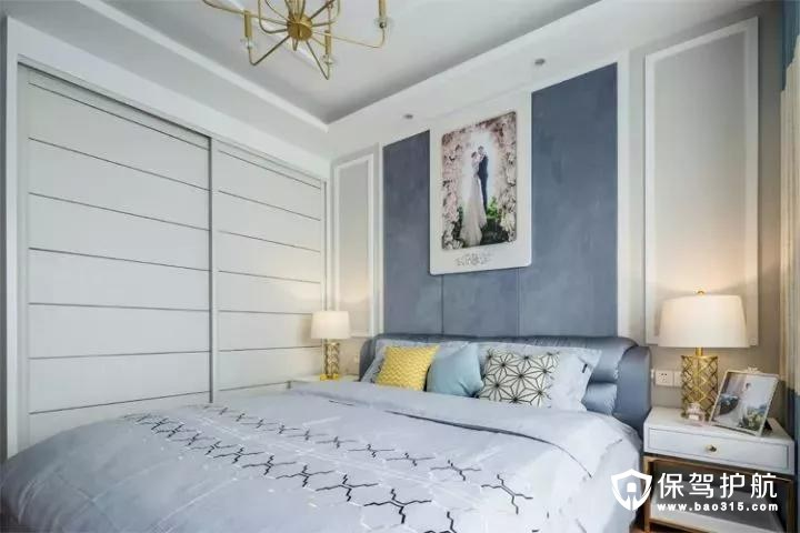 大面积的衣柜,提供了丰富的收纳储物空间