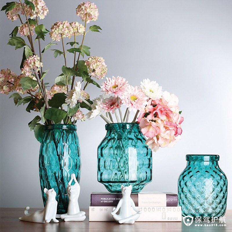 让你一见清新的绿植盆栽 搭配玻璃镂空花瓶营造小资情调