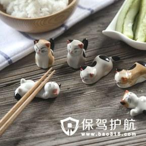 陶瓷小猫筷托