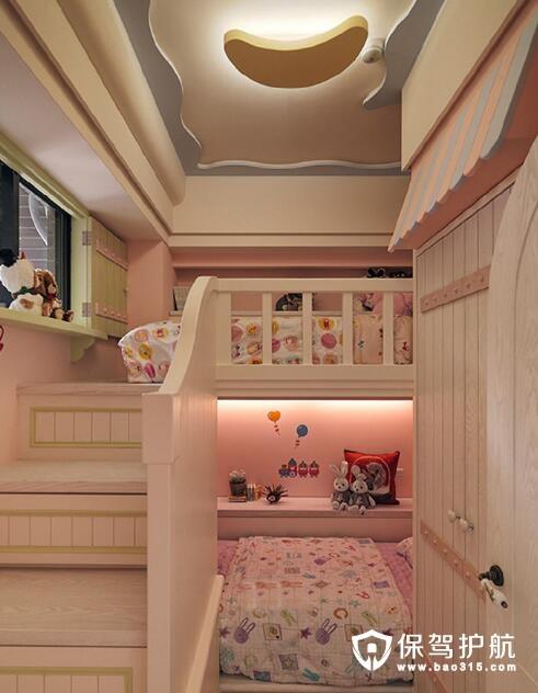 小复式楼梯公主床