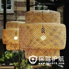 中式竹编餐厅装饰吊灯