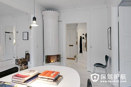 95㎡白色浪漫经典北欧风公寓软装攻略