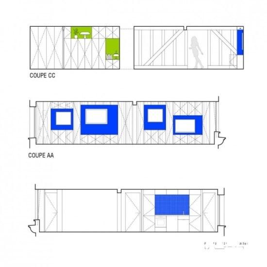 SWAN Architectes团队操手71㎡老旧巴黎公寓改造典例