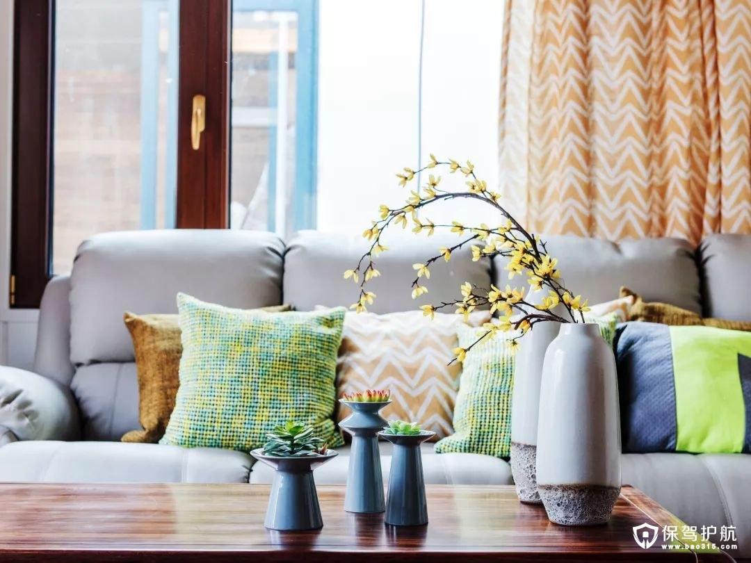 美式风格温馨舒适的待客区域