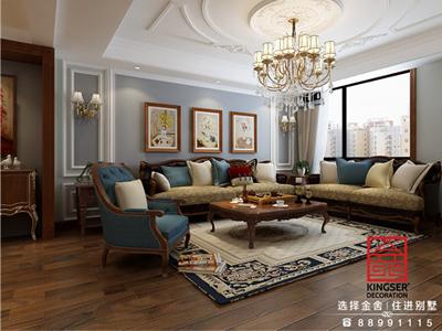 石家庄鑫界王府170平米美式风格装修