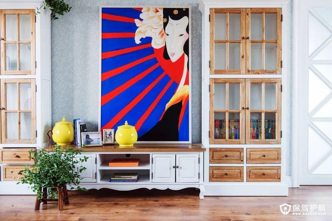 美式风格客厅电视背景墙
