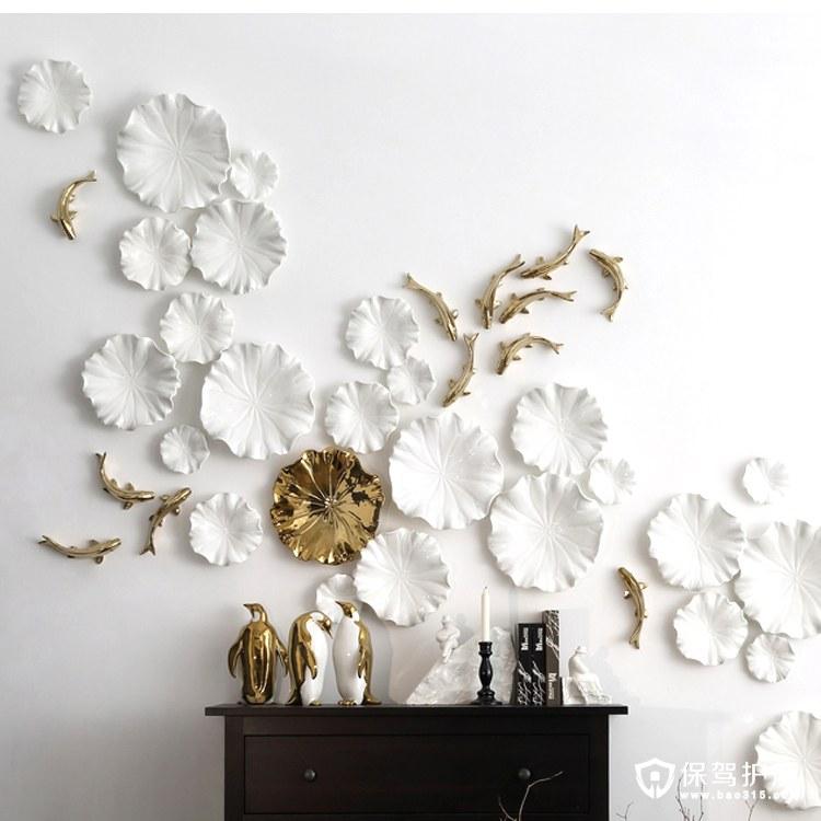 陶瓷鱼群立体墙饰