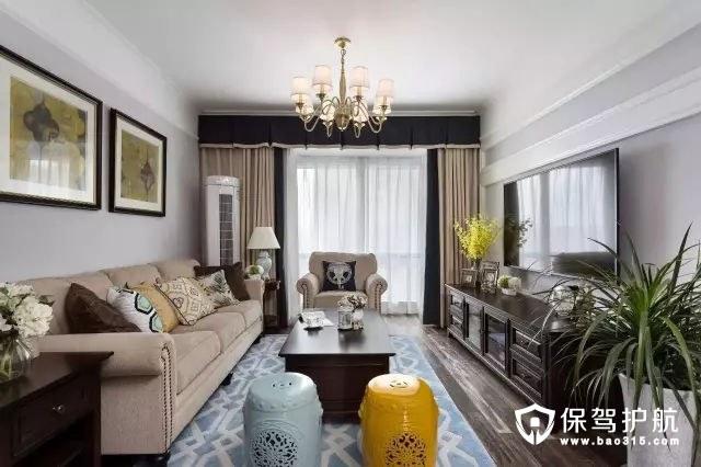 美式风格禅意韵味客厅