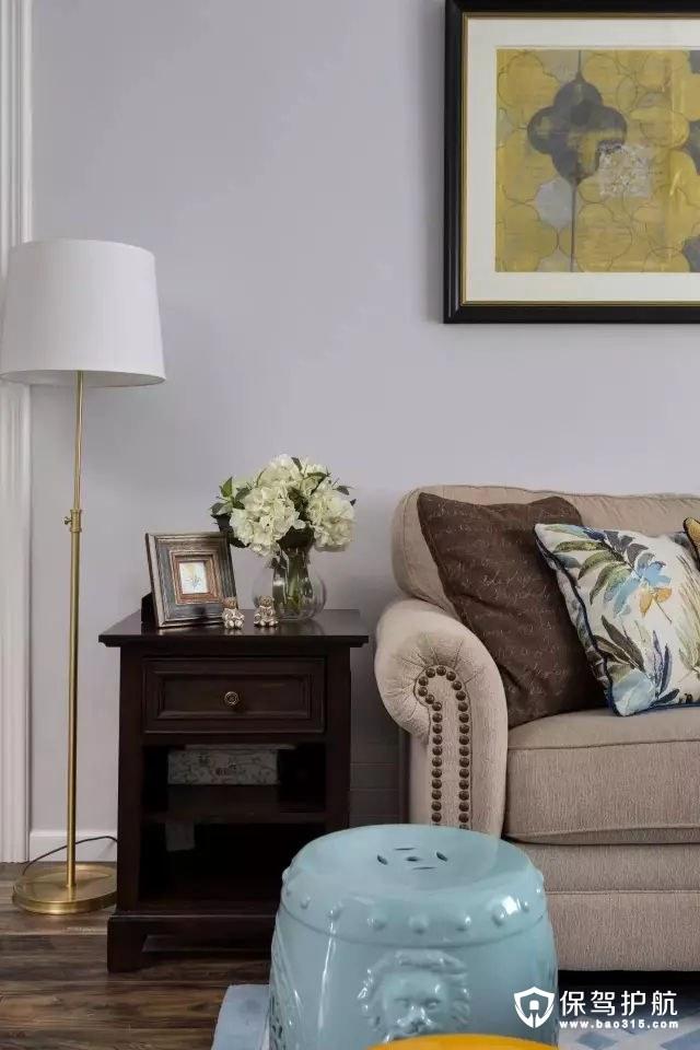 复古沙发墙铁艺落地灯