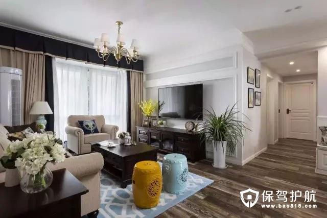 清新活力美式风格客厅