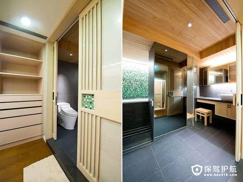 日式风格干湿分离卫生间