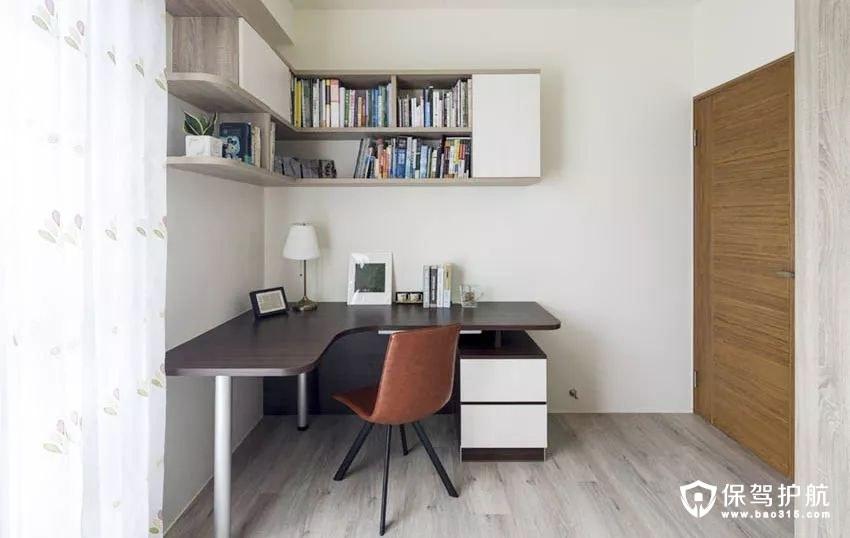 直角书桌与直角墙柜的设计