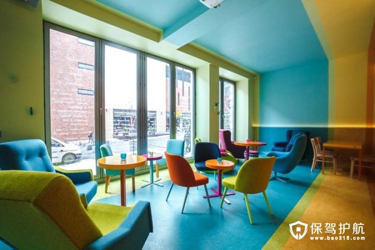 波兰网红餐厅cafein bistro五彩童话装修设计耳目一新