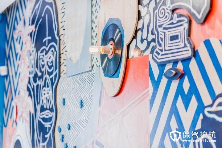斯堪的纳维亚风蓝色大海甜品店装修设计