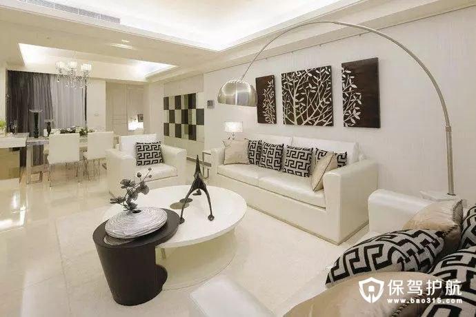 120㎡现代简约时尚三居室装修设计