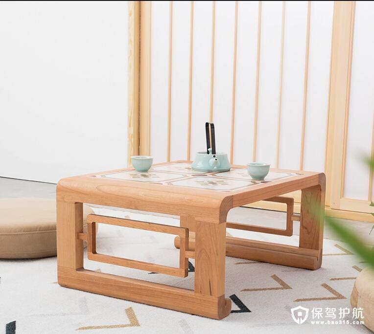 樱桃木日式茶几