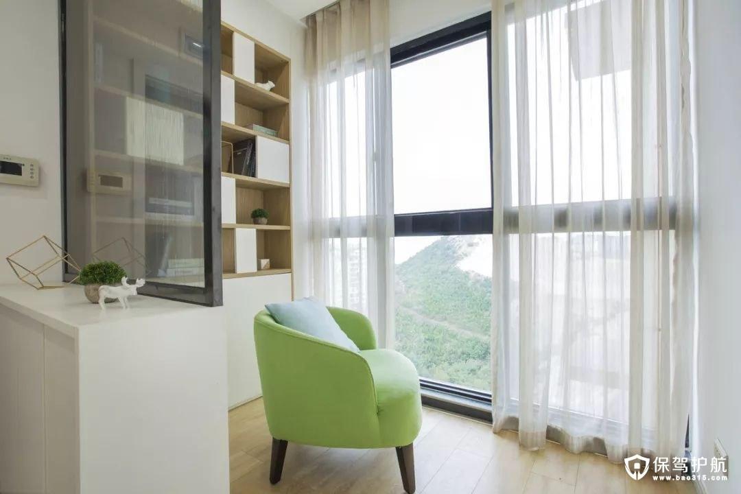 北欧风格书房背景墙装修效果图
