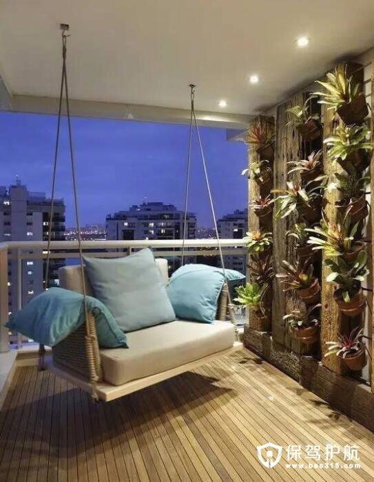 偏爱这一隅 别具一格的阳台吊床摇椅设计