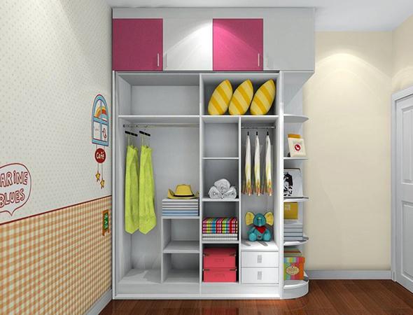 卡通收纳衣柜 打造整洁有序儿童房