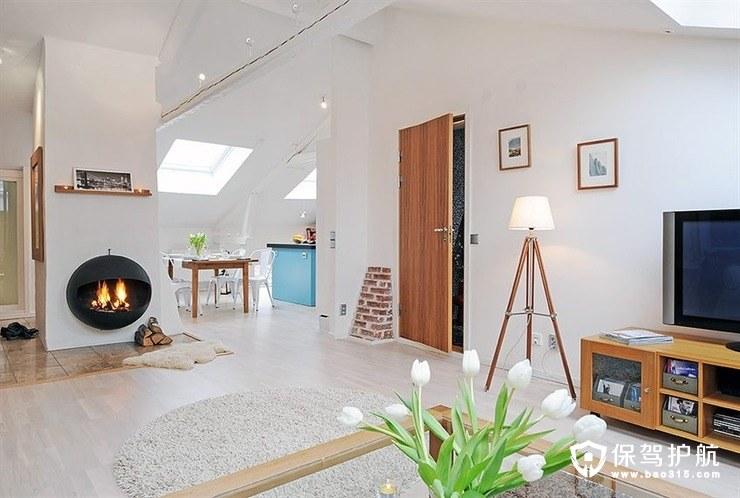 120㎡北欧两居室简约现代软装设计