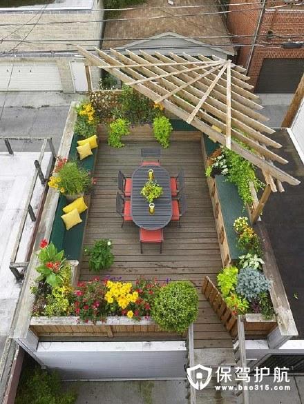 国外绝美屋顶花园设计 露台绿植花卉景观欣赏